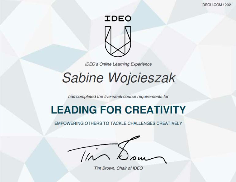 Leading for Creativity