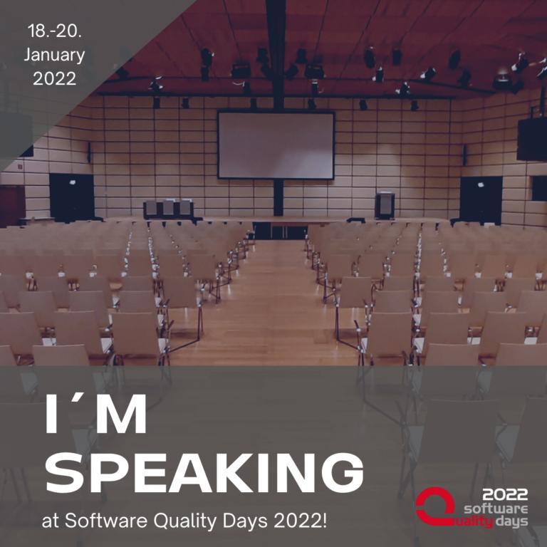Speaker Badge Software Quality Days 2022